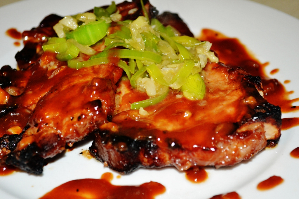 Oven Baked Pork with Hoisin-Barbeque sauce