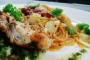 Spaghetti with Seared Cajun Chicken and Salsa Fresca