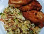 Fried Rice with Chicken Schnitzel