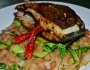 Soy-seared Fish with Spicy Vermicelli Noodles